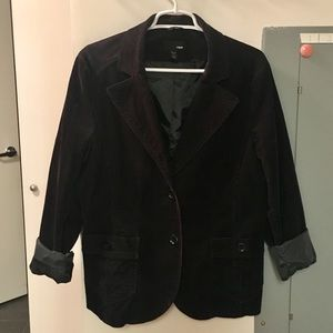 H&M Black Corduroy Jacket or Blazer